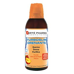 Forte Pharma Turboslim Draining 500ml peach tea flavor.