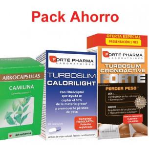Pack ahorro TurboSlim FORTE 56 + Calorilight 60 + Camilina 200